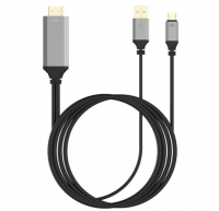 Кабель USB-C to HDMI cable для Type-c (HDTV), цвет - серый, 1,8 м