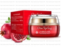 "One Spring ""Red Pomegranate Fresh Moisturing Cream"" Крем антиоксидантный для лица с экстрактом граната, 50 г"